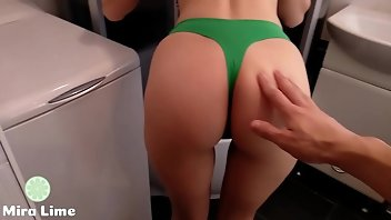 Bathroom Teen Creampie Panties