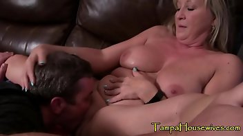 Creampie Eating Hardcore Blonde MILF