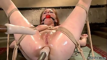 Hogtied Anal Dildo Rough