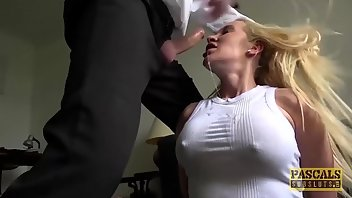Brutal Sex Blonde Cowgirl Submissive