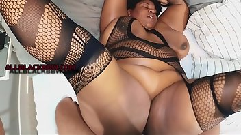 Tied Black MILF Riding